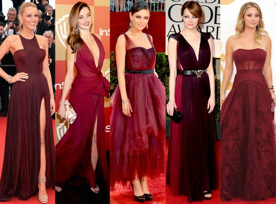 Not Only Is Marsala Being Seen All Over The Red Carpet But This Pop Of Color Perfect For A Bridesmaids Dress Looks On Every Skin
